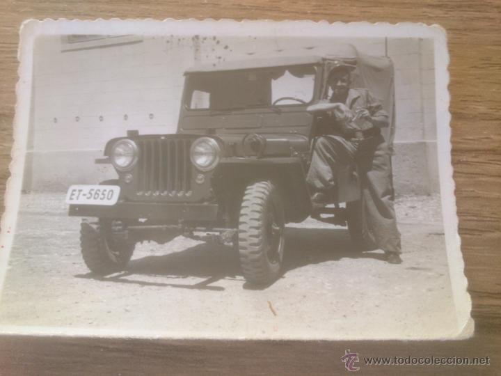 FOTOGRAFIA VEHICULO EJERCITO ESPAÑA 1955 (Militar - Fotografía Militar - Otros)