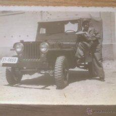 Militaria: FOTOGRAFIA VEHICULO EJERCITO ESPAÑA 1955. Lote 140966220