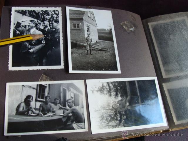 ALBUM DE SOLDADO ALEMAN CON FOTO DE HITLER (Militar - Fotografía Militar - II Guerra Mundial)