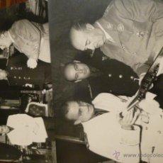 Militaria: LOTE FOTOGRAFIAS FRANCISCO FRANCO CON DIRIGENTES FALANGE . Lote 53209691