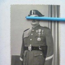 Militaria: GUARDIA CIVIL: SARGENTO VETERANO GUERRA CIVIL CON TRICORNIO ( MERITO EN CAMPAÑA, MERITO, ETC), CADIZ. Lote 53290192