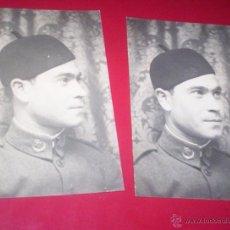 Militaria: FOTO ORIGINAL MILITAR ALFONSINO 1929 FOTODIN MADRID UNIFORME GORRO REGULARES MARRUECOS. Lote 53376271