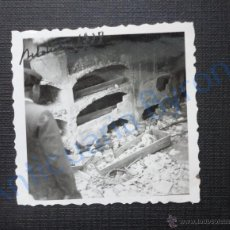 Militaria - FOTOGRAFÍA ANTIGUA ORIGINAL. BELCHITE. AÑO 1938. TUMBAS. CEMENTERIO (6 X 6 CM) - 53552176