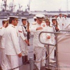 Militaria: FOTOGRAFIA DE LA FRAGATA BALEARES, AÑO 1975, MARINEROS ARMADA ESPAÑOLA. Lote 53562175