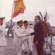 Militaria: FOTOGRAFIA DE LA FRAGATA BALEARES, AÑO 1975, MARINEROS ARMADA ESPAÑOLA. Lote 53562222