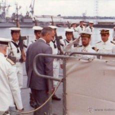 Militaria: FOTOGRAFIA DE LA FRAGATA BALEARES, AÑO 1975, MARINEROS ARMADA ESPAÑOLA. Lote 53562340