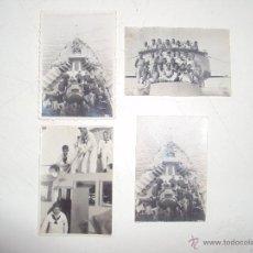 Militaria: 4 FOTOS ORIGINALES DE LA DOTACION BUQUE DE GUERRA FINALES DEL 38 MEDITERRANEO. Lote 53704190