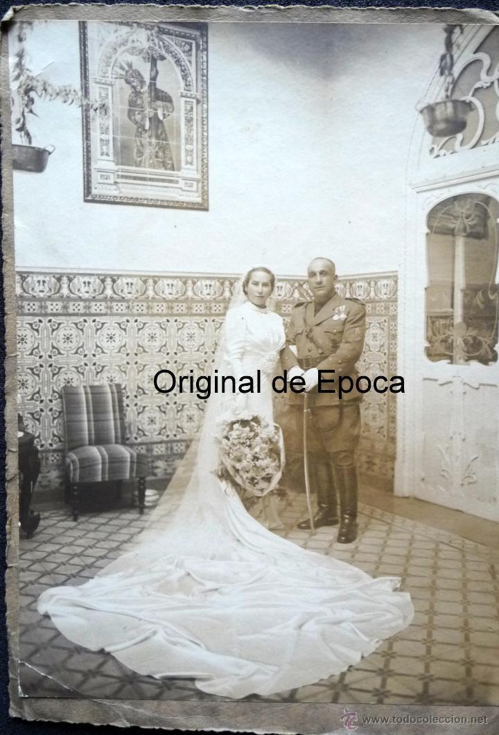 (JX-1317)FOTOGRAFIA DE CAPITAN CON VARIAS CONDECORACIONES - GUERRA CIVIL ??? (Militar - Fotografía Militar - Otros)