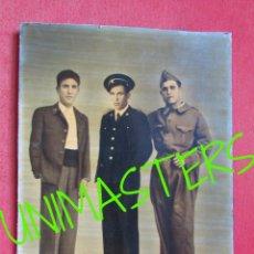 Militaria: MILICIANOS GUERRA CIVIL FOTOGRAFIA GRANDE COLOREADA ANTIGUA - MUY INTERESANTE. Lote 53769822