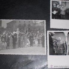 Militaria: LOTE DE 3 FOTOS FOTOGRAFIA VISITA DEL DICTADOR FRANCO A UBEDA. Lote 53848464