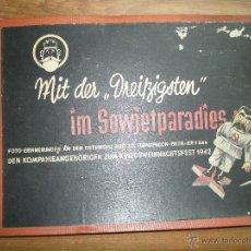 Militaria: ALBUM DE FOTOGRAFÍAS. MITDER 1942. CAMPAÑA DE RUSIA.. Lote 53892864