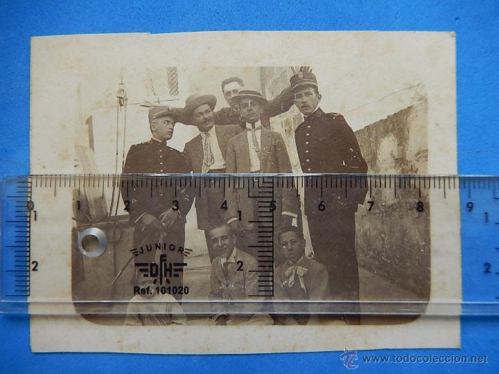 Militaria: Viejas fotografías. Soldados cazadores de infantería. Posiblemente Mallorca. - Foto 8 - 53905799