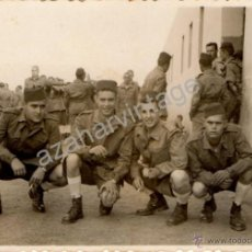Militaria: SIDI IFNI, FOTOGRAFIA GRUPO DE REGULARES, FOTO MAYENCO,100X70MM. Lote 54049502