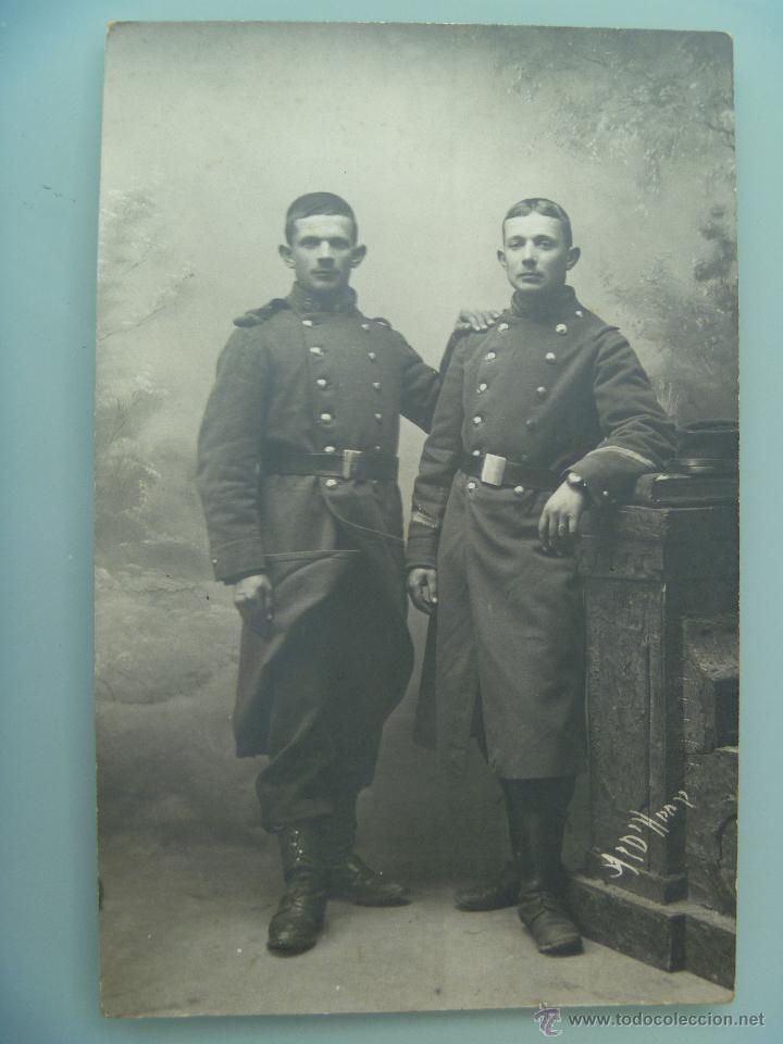 FOTO DE ESTUDIO DE MILITARES FRANCESES . 1 ª GUERRA MUNDIAL (Militar - Fotografía Militar - I Guerra Mundial)