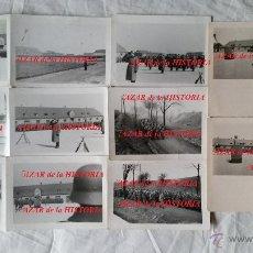 Militaria: DIVISION AZUL, RARO LOTE DE 13 FOTOS EN EL CAMPAMENTO ALEMAN DE HOF, DE DESPEDIDA Y DE JURA 1943. Lote 35031449