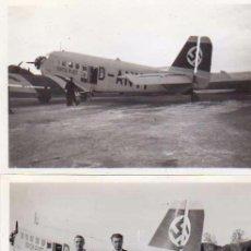 Militaria: DOS FOTOGRAFÍAS 8,50 X 6 CM 1936 AVIÓN NAZI ALEMÁN. . Lote 54411018