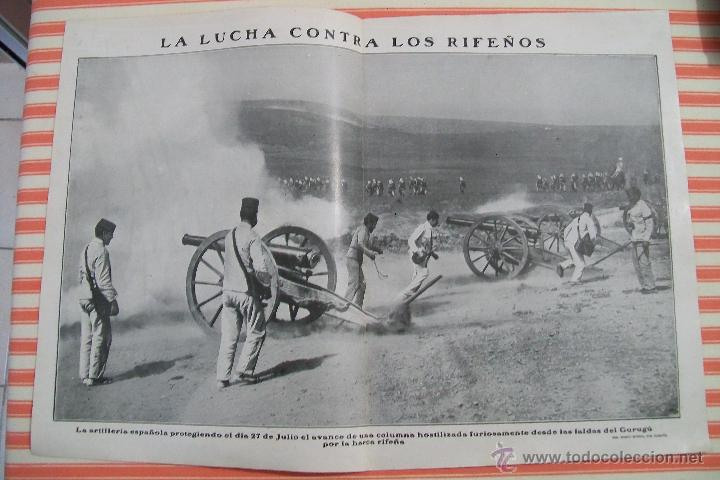 DOBLE PÁGINA LA LUCHA CONTRA LOS RIFEÑOS NUEVO MUNDO 1909 (Militar - Fotografía Militar - Otros)