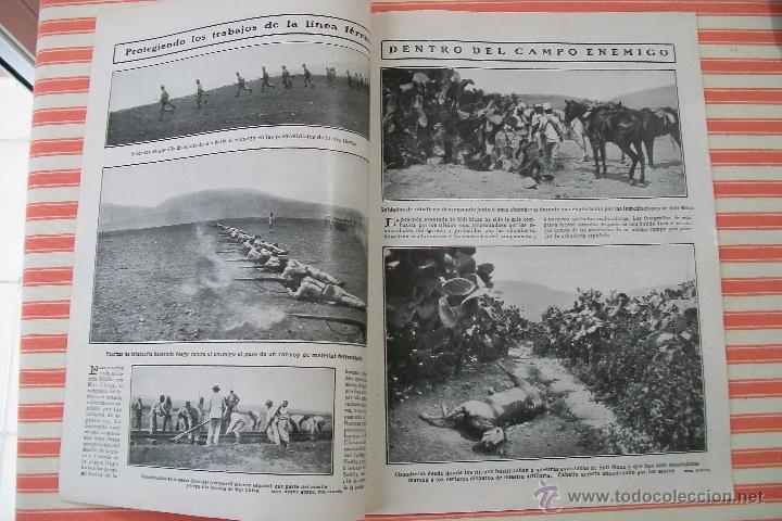 Militaria: DOBLE PÁGINA PREPARATIVOS PARA EL AVANCE HACIA ZELUAN Y OTRAS FOTOS DE LA GUERRA HOJAS REVISTA 1909 - Foto 3 - 54425200
