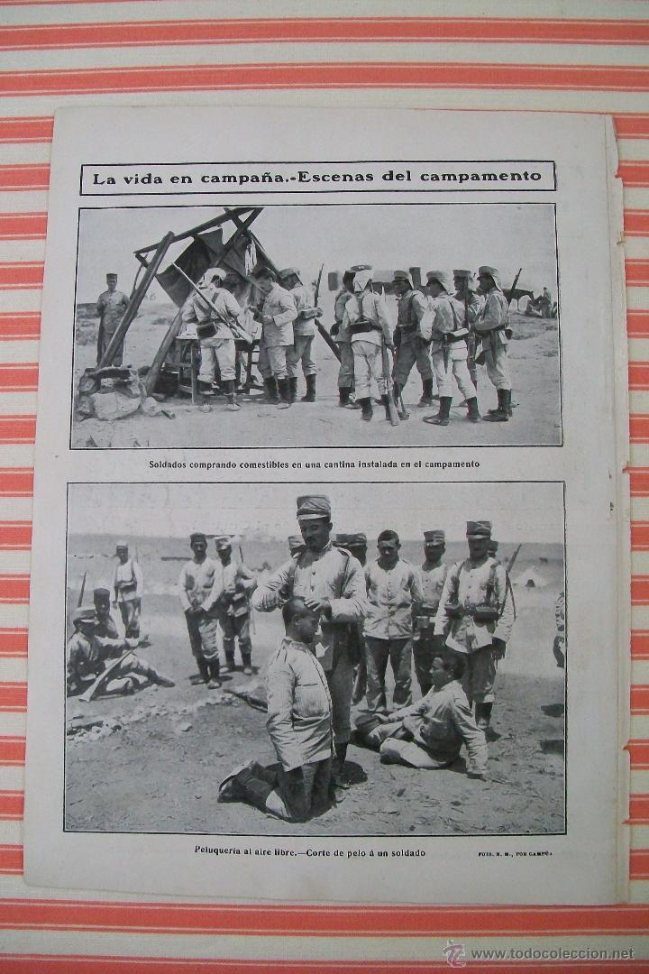 Militaria: DOBLE PÁGINA PREPARATIVOS PARA EL AVANCE HACIA ZELUAN Y OTRAS FOTOS DE LA GUERRA HOJAS REVISTA 1909 - Foto 4 - 54425200