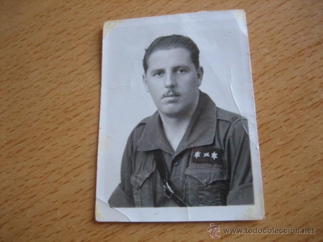 FOTOGRAFÍA FALANGISTA TENIENTE PROVISIONAL DEL EJÉRCITO NACIONAL. GUERRA CIVIL (Militar - Fotografía Militar - Guerra Civil Española)