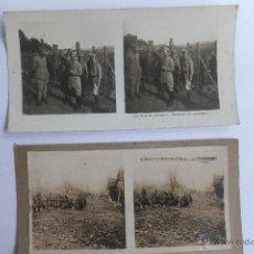 Militaria: FOTOGRAFIAS ESTEREOSCOPICA SOLDADOS INFANTERIA BATALLA DOUAUMONT 1916 I GUERRA MUNDIAL. Lote 54643012