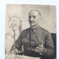 Militaria: P_4341. GENERAL GONZALO QUEIPO DE LLANO. GUERRA CIVIL. FOTOGRAFO JALÓN ANGEL.. Lote 54716370