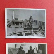 Militaria: 2 FOTOS ORIGINALES DE SOLDADOS ANTIGUAS . Lote 54718214