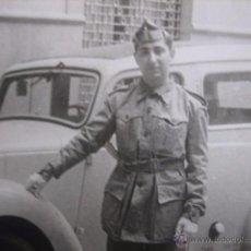 Militaria: FOTOGRAFÍA SOLDADO AUTOMOVILISMO DEL EJÉRCITO ESPAÑOL.. Lote 54727682