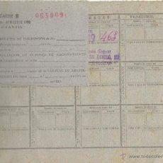 Militaria: PS4965 CARTILLA DE RACIONAMIENTO INFANTIL CON CUPONES. BARCELONA, 1952. Lote 45862732