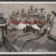 Militaria: INTERESANTE FOTOGRAFIA ORIGINAL BRITISH OFFICIAL PHOTOGRAPH AÑOS 40. Lote 55028860