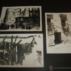 Militaria: LERIDA LLEIDA GUERRA CIVIL 3 FOTOGRAFIAS POR SOLDADO LEGION CONDOR RUINAS TRAS BOMBARDEOS. Lote 55058517
