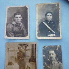 Militaria: LOTE 4 FOTOS MILITARES. GUERRA CIVIL Y AÑOS 40. Lote 55098044