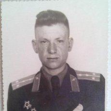 Militaria: FOTO 2 OFICIAL SOVIETICOS CON MEDALLAS I ORDENES .URSS.. Lote 55149430