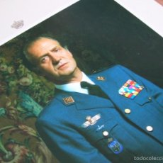 Militaria: FOTOGRAFIA OFICIAL DEL REY DON JUAN CARLOS CON UNIFORME DE CAPITAN GENERAL DE AVIACIÓN. AÑO 1989.. Lote 55231776