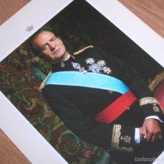 Militaria: FOTOGRAFIA OFICIAL DEL REY DON JUAN CARLOS CON UNIFORME DE GALA DE CAPITAN GENERAL. AÑO 1989.. Lote 55231856