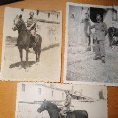 Militaria: LOTE DE ANTIGUAS FOTOGRAFIAS SOLDADOS ESPAÑOLES MONTADOS A CABALLO. Lote 55338351