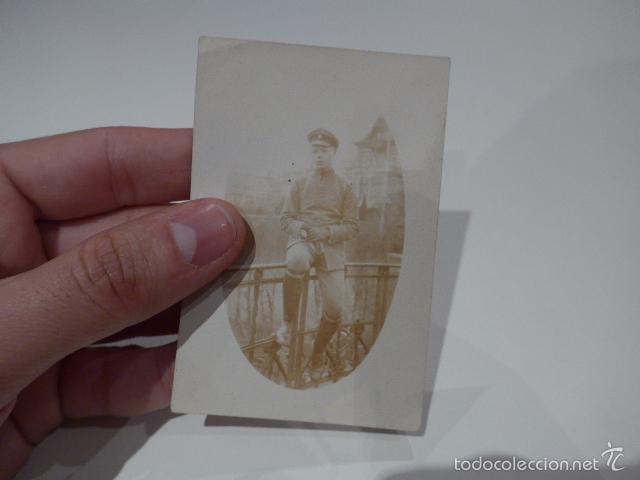 ANTIGUA FOTOGRAFIA DE ALEMAN DE I GUERRA MUNDIAL, ORIGINAL (Militar - Fotografía Militar - I Guerra Mundial)