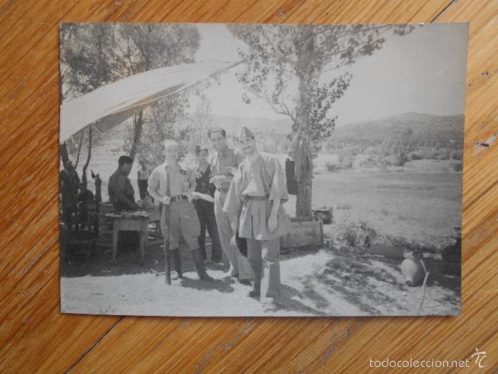 FOTOGRAFIA ORIGINAL GUERRA CIVIL, OFICIALES, 1937, RETAGUARDIA EN FRENTE DE ARAGON (Militar - Fotografía Militar - Guerra Civil Española)
