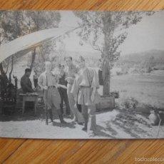 Militaria: FOTOGRAFIA ORIGINAL GUERRA CIVIL, OFICIALES, 1937, RETAGUARDIA EN FRENTE DE ARAGON. Lote 55682522