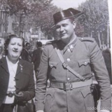 Militaria: FOTOGRAFÍA GUARDIA CIVIL CARABINERO. BARCELONA 1941. Lote 55696366