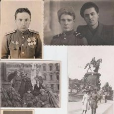 Militaria: LOTE SIETE FOTOS MILITARES.SOLDADOS DE SGM .URSS. Lote 55825580