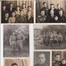 Militaria: LOTE 2 SIETE FOTOS MILITARES.SOLDADOS DE SGM .URSS. Lote 55825769