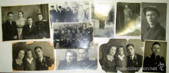 LOTE 24 FOTOS MILITARES.UNA FAMILIA SOVIETICA .URSS (Militar - Fotografía Militar - II Guerra Mundial)