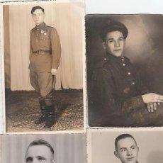 Militaria: LOTE QUATRO FOTOS MILITARES.SOLDADOS DE SGM .URSS. Lote 55834910