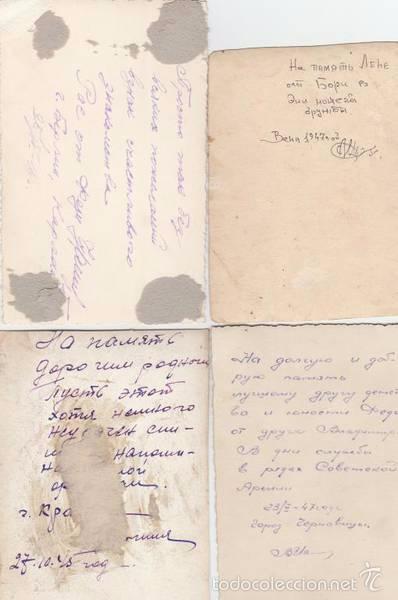 Militaria: Lote quatro fotos militares.Soldados de SGM .URSS - Foto 2 - 55834910