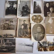Militaria: LOTE DE 13 FOTOS DE UNA FAMILIA 1946-1970 A.URSS. Lote 55907196