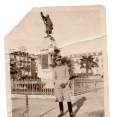 Militaria: FOTOGRAFÍA CABALLERÍA, OFICIAL CON UNIFORME DE CABALLERÍA, DEDICADA Y FECHADA EN 1926 - 8,5 X 6CM. Lote 55911250
