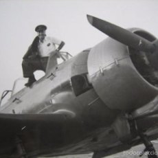 Militaria: FOTOGRAFÍA PILOTO JUNKERS HISPANO SUIZA 42. 1954. Lote 56022854