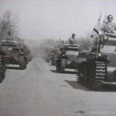 Militaria: FOTOGRAFÍA CARROS DE COMBATE PANZER DEL EJÉRCITO NACIONAL. GUERRA CIVIL. Lote 56040345