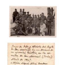 Militaria: FOTOGRAFÍA DEL GRUPO DE JEFES Y OFICIALES DEL REGIMIENTO SAN MARCIAL, ABRIL DE 1947. Lote 56108653